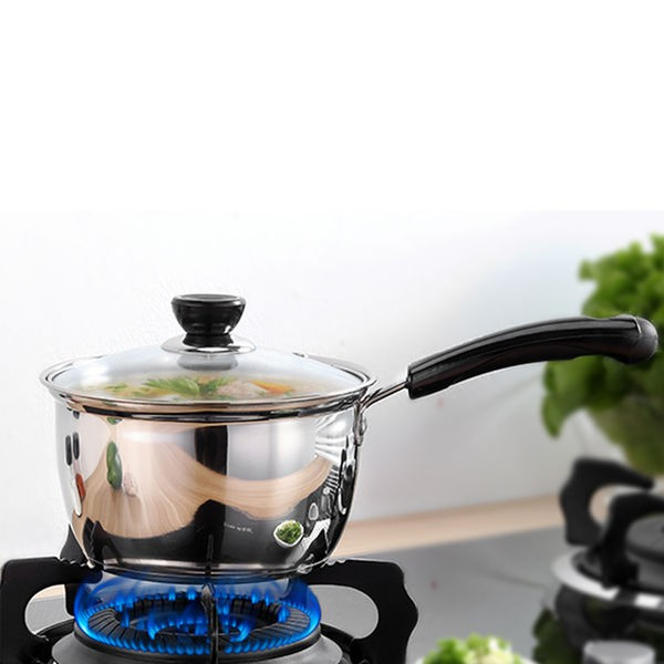 不銹鋼奶鍋湯鍋加厚煮面小奶鍋迷你小鍋泡面輔食鍋電磁爐燃氣通用DJ632
