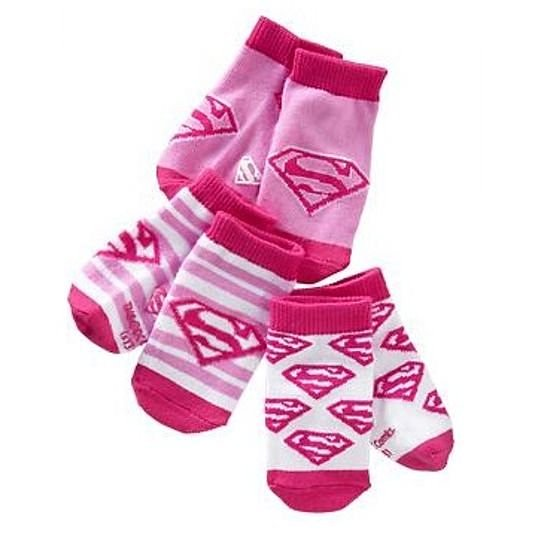 兒童襪 卡通襪子 4-5歲 三件組 粉色小超人 | Old Navy女童【Ol952400】CE0104