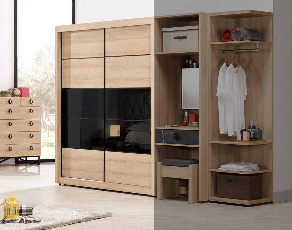 【尚品家具】CM-542-1 伯爾尼5尺拉門衣櫥(內鏡可另購)