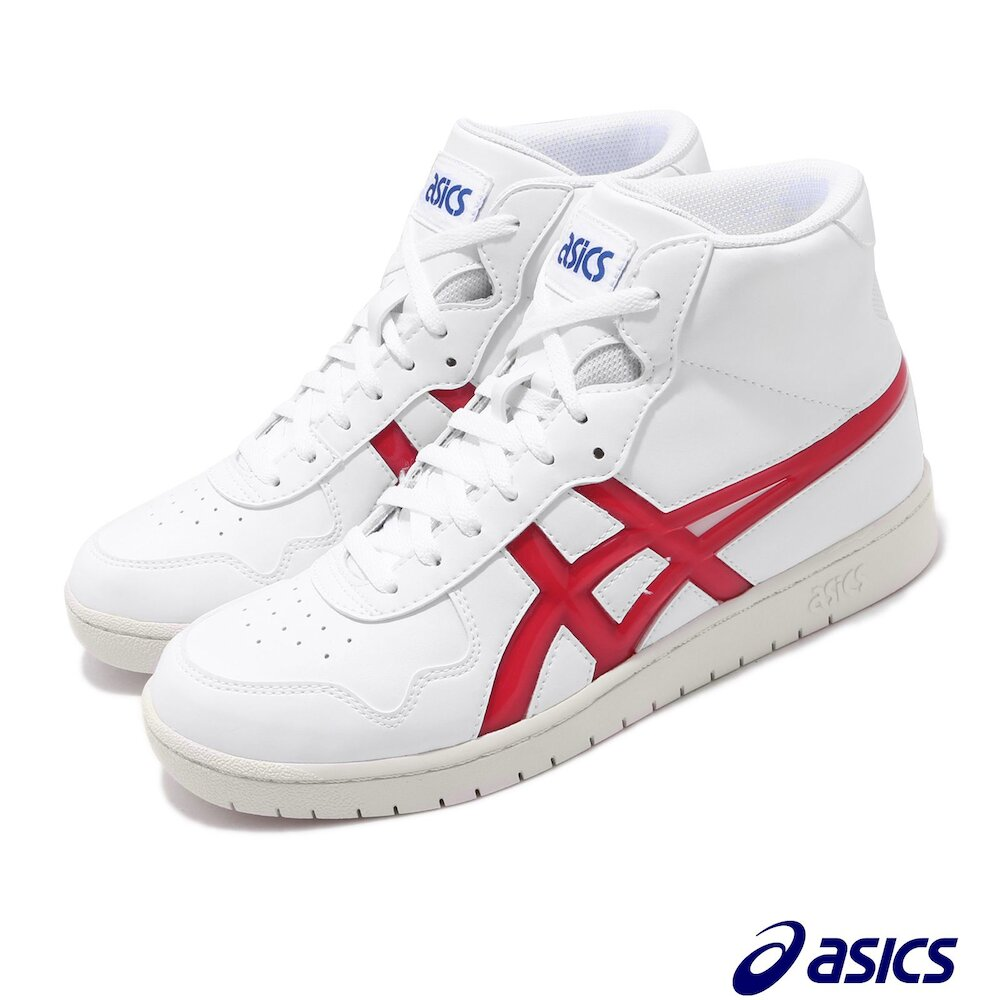 ASICS 休閒鞋 Japan L 復古 中筒 男鞋 亞瑟士 皮革 經典款 球鞋穿搭 百搭 白 紅 [1191A270101]