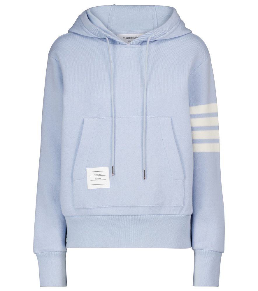 Cashmere and cotton-blend hoodie