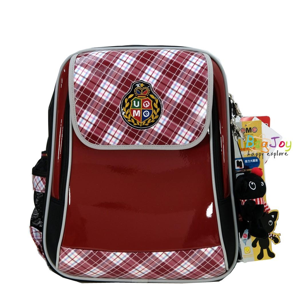 UNME 台灣製 英格蘭皇家 兒童書包 3273 格紋紅
