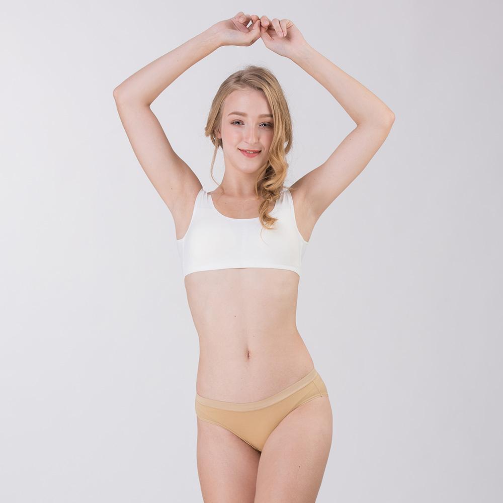 *Pure5.5-性感美臀超低腰女三角褲-淺駝色 (商品編號:V0700136)