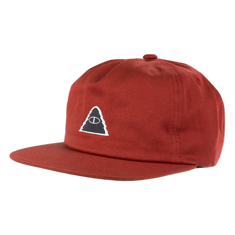 【POLAR STUFF】211ACM7008 CYCLOPS PATCH HAT 滑板帽 六片帽 (酒紅) 化學原宿