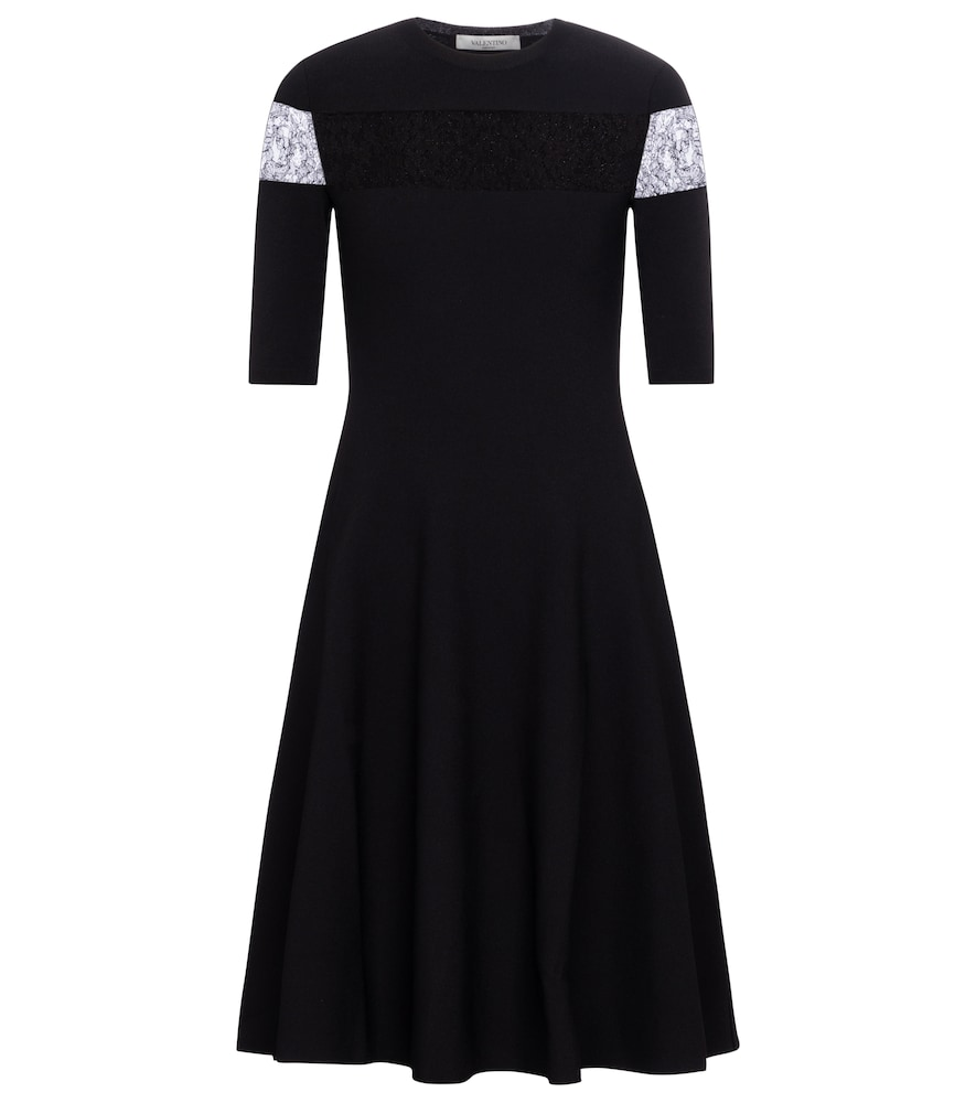 Valentino lace-insert minidress