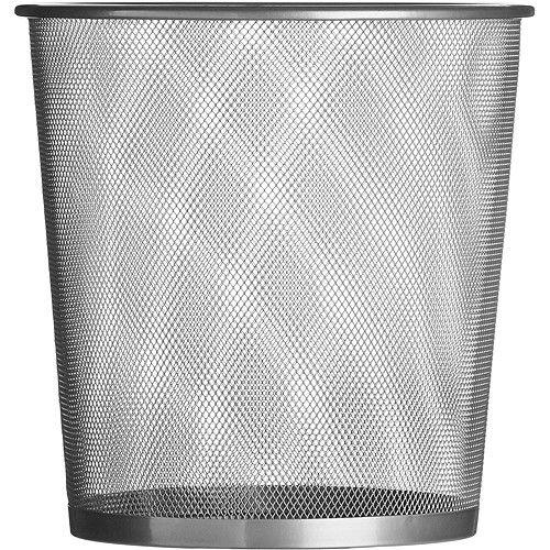 《Premier》無蓋網格垃圾桶(銀28cm)