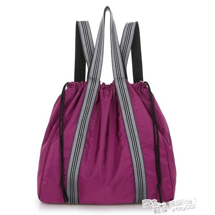 伊衫風尚精品-後背包 新款2021休閒時尚女士純色尼龍布包大容量潮流 手提 後背包 喜迎新春
