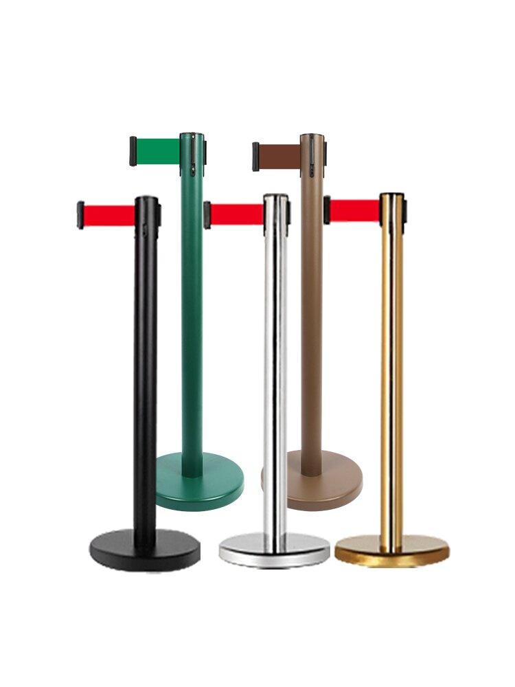 護欄桿 排隊護欄路障隔離帶伸縮帶不銹鋼安全警戒隔離線一米線欄桿警示帶【MJ7788】