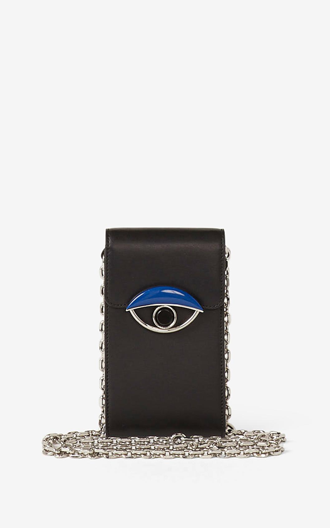 KENZO Porte téléphone à chaine TALI en cuir