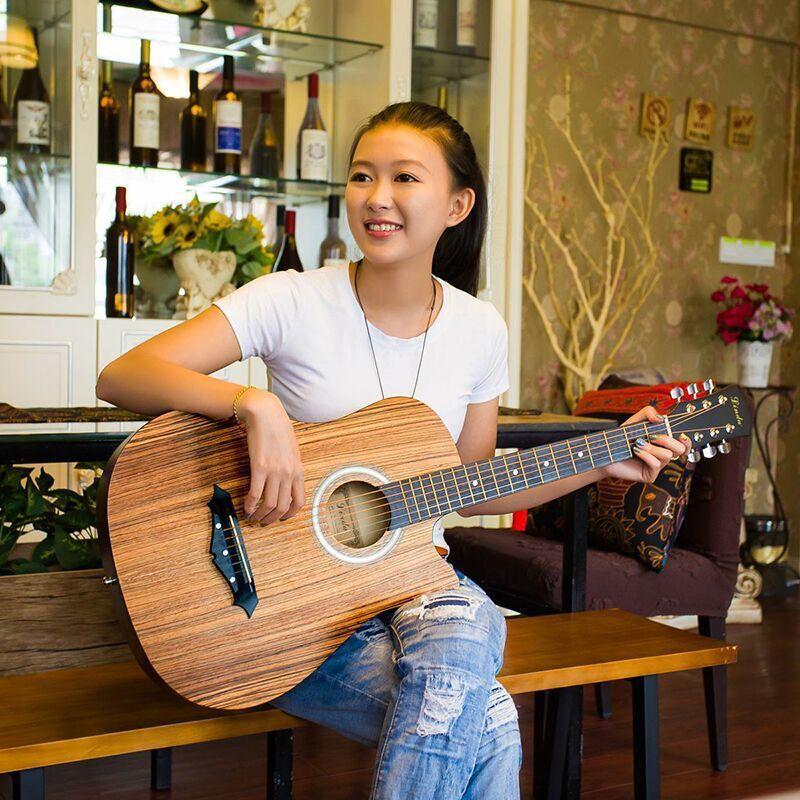新款38寸吉他民謠吉他初學者吉他新手入門練習琴男女學生jita樂器