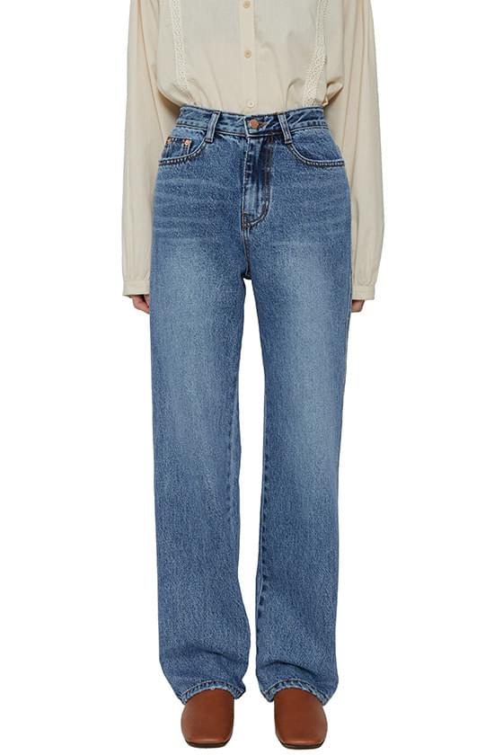 韓國空運 - Kitsch straight jeans 牛仔褲