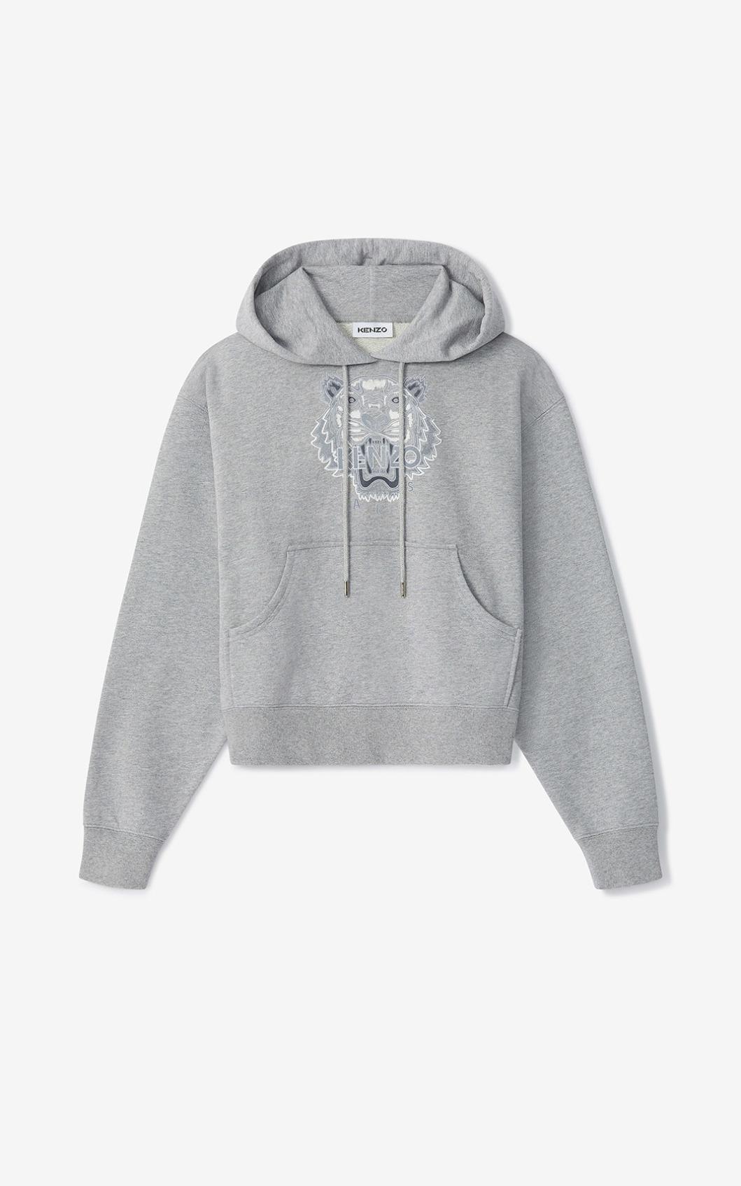 KENZO Sweatshirt boxy à capuche Tigre