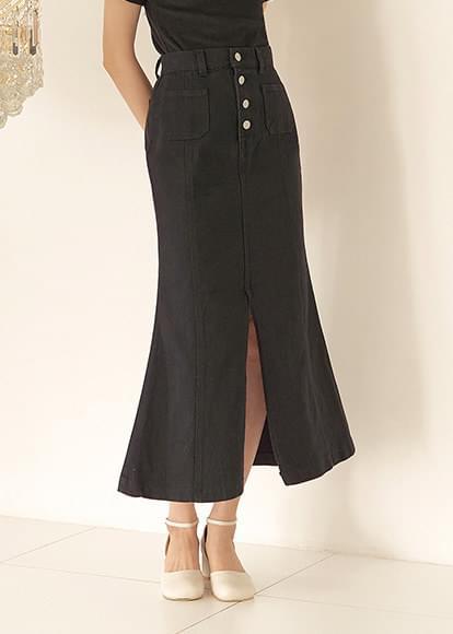 韓國空運 - Button-up mermaid skirt 裙子
