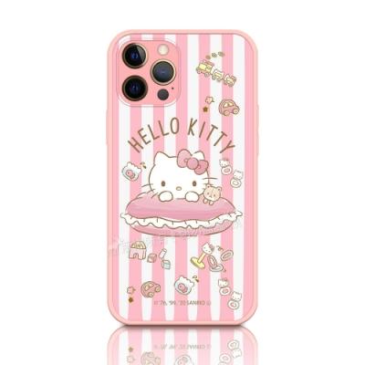 正版授權 Hello Kitty 凱蒂貓 iPhone 12 Pro Max 6.7吋 粉嫩防滑保護殼(玩具)