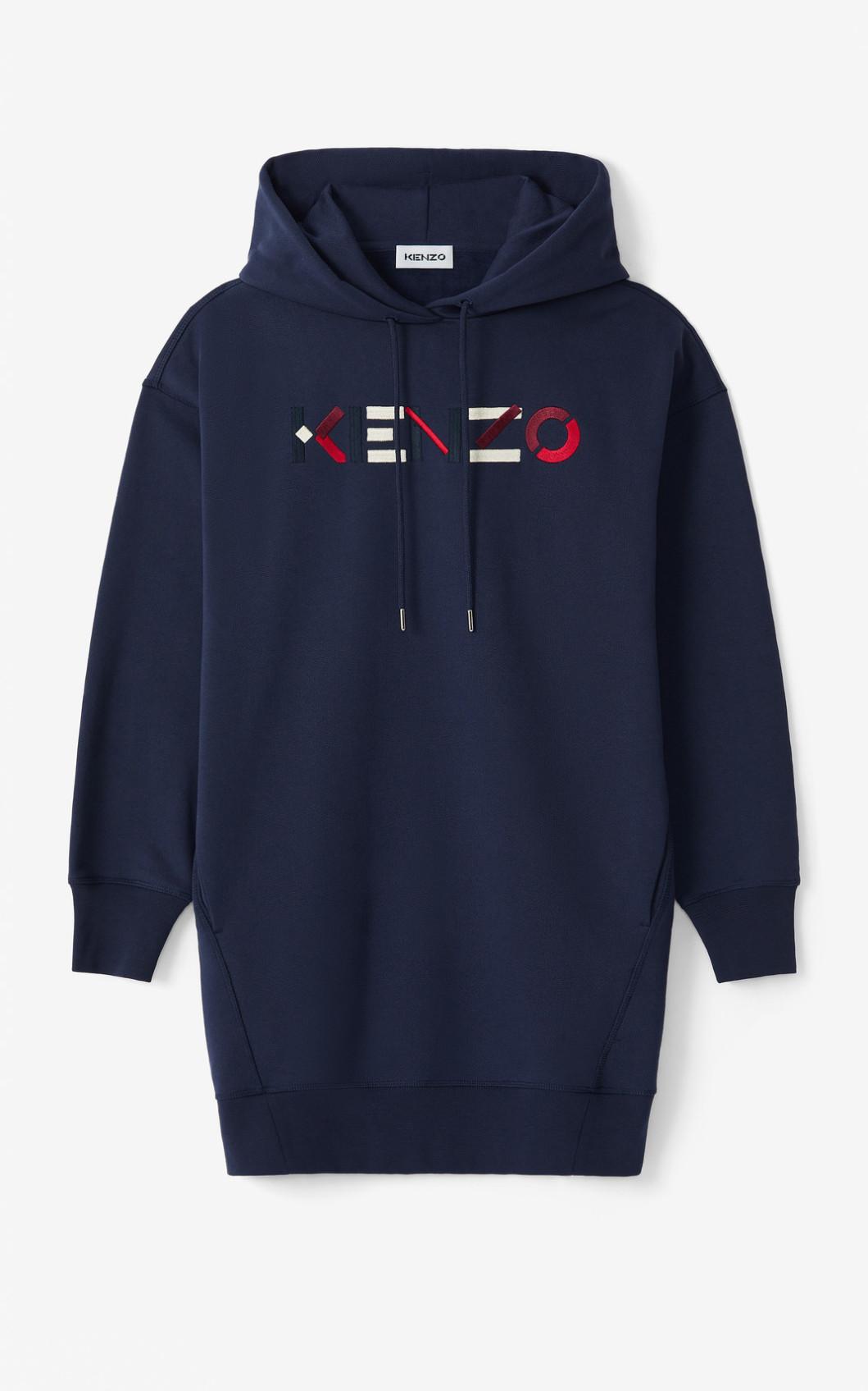 KENZO Robe sweatshirt à capuche KENZO Logo