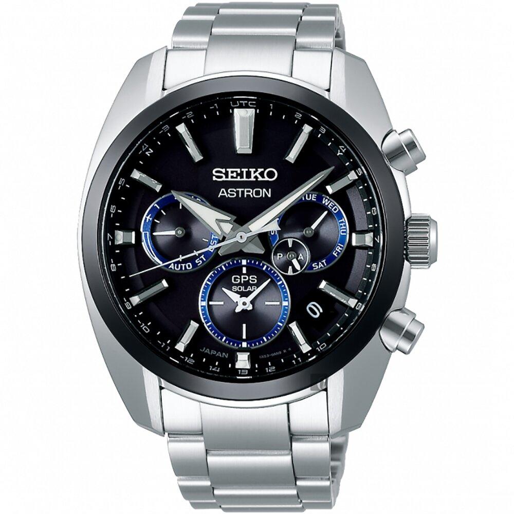 SEIKO 精工 Astron 5X53 雙時區太陽能GPS衛星定位手錶 SSH053J1 5X53-0AJ0A