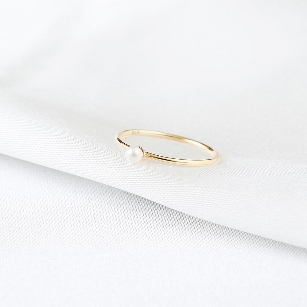 K10 美好的一顆小珍珠戒指