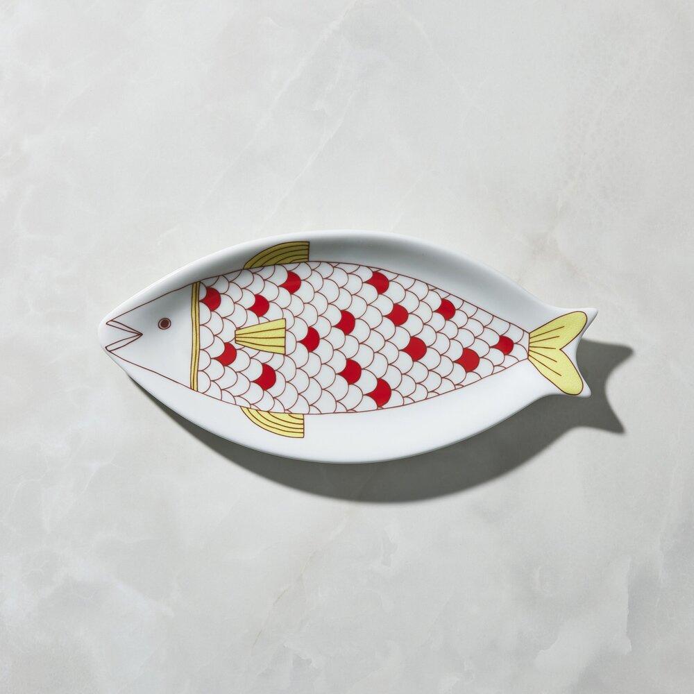 日本晴九谷燒 - 魚大盤 - 網紋