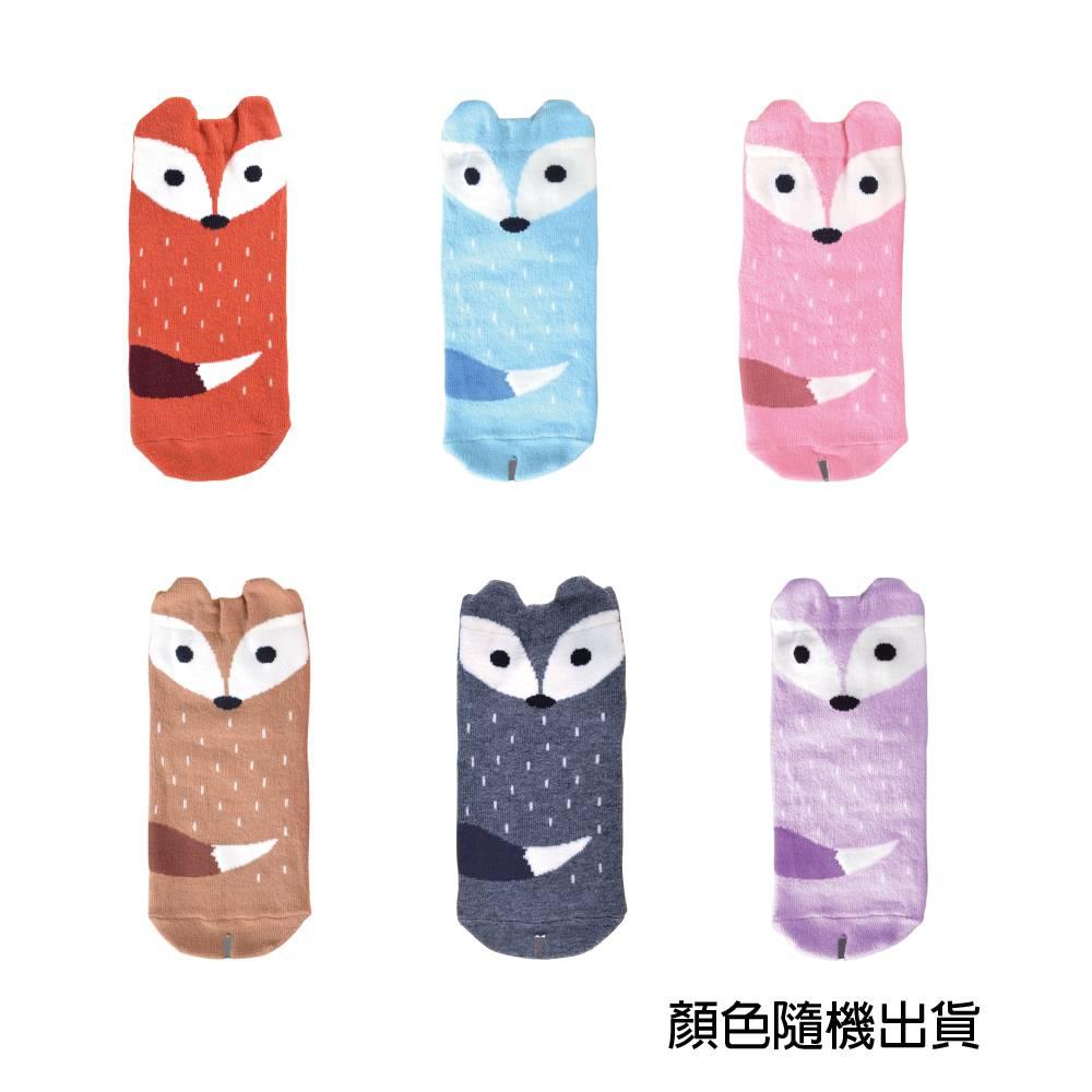貝柔趣味立體止滑童短襪-狐狸 15-18cm【康是美】