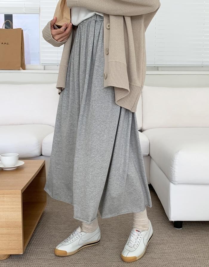 韓國空運 - Ray Rouge Flare Banding Long Skirt 裙子