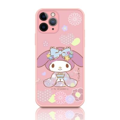 正版授權 My Melody 美樂蒂 iPhone 11 Pro 5.8吋 粉嫩防滑保護殼(櫻花祭典)