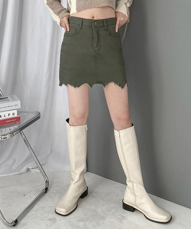 韓國空運 - Cotton Vintage Wavy Mini Skirt Pants 裙子