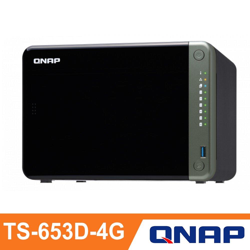 ★快速到貨★【QNAP 威聯通】TS-653D-4G 6Bay NAS 網路儲存伺服器