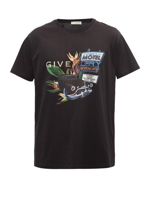 Givenchy - Motel Summer Logo-print Cotton-jersey T-shirt - Mens - Black