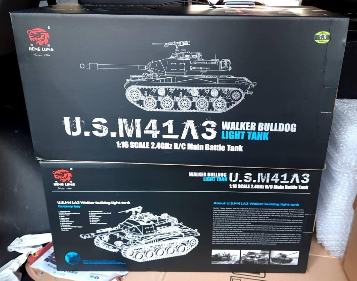 最新7.0機版 1:16 恆龍 3839-1華克猛犬戰車M41A3 坦克車 冒煙 聲光 BB彈 NCC認證 公司貨