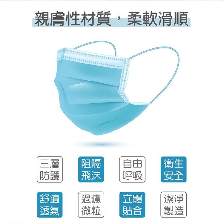 MIT 三箭3層防護口罩 隔絕飛沫、花粉、粉塵 親膚性材質 舒適服貼 多種顏色可選