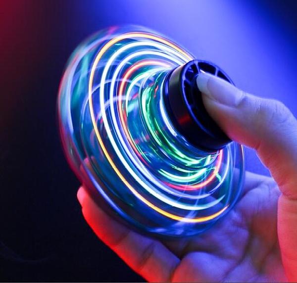 指尖陀螺 飛行指尖陀螺磁懸浮感應飛行器手指回旋飛碟解壓黑科技玩具【快速出貨八折鉅惠】