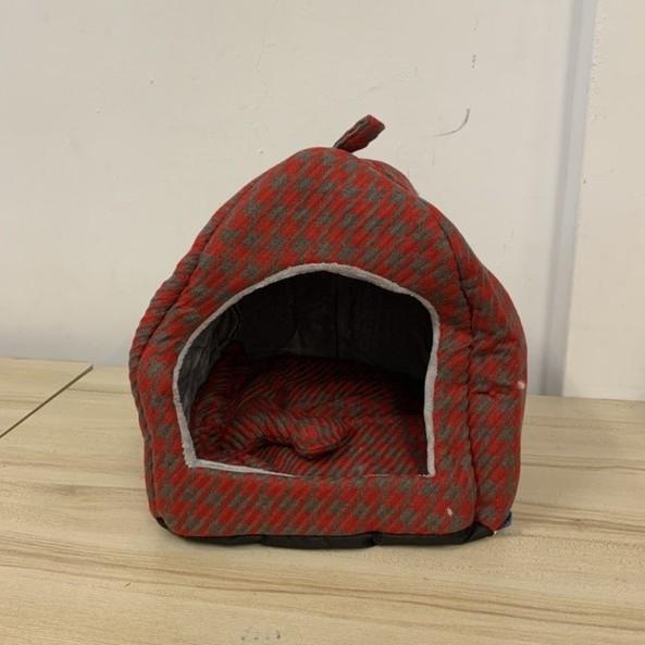 狗窩狗屋泰迪比熊博美小型犬寵物貓咪四季窩墊保暖帳篷窩(35*40/@777-6716)