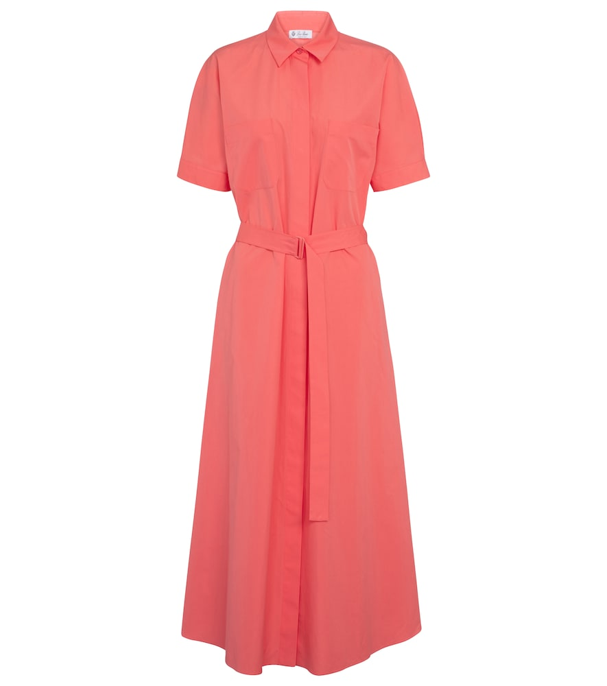 Miranda belted cotton midi dress