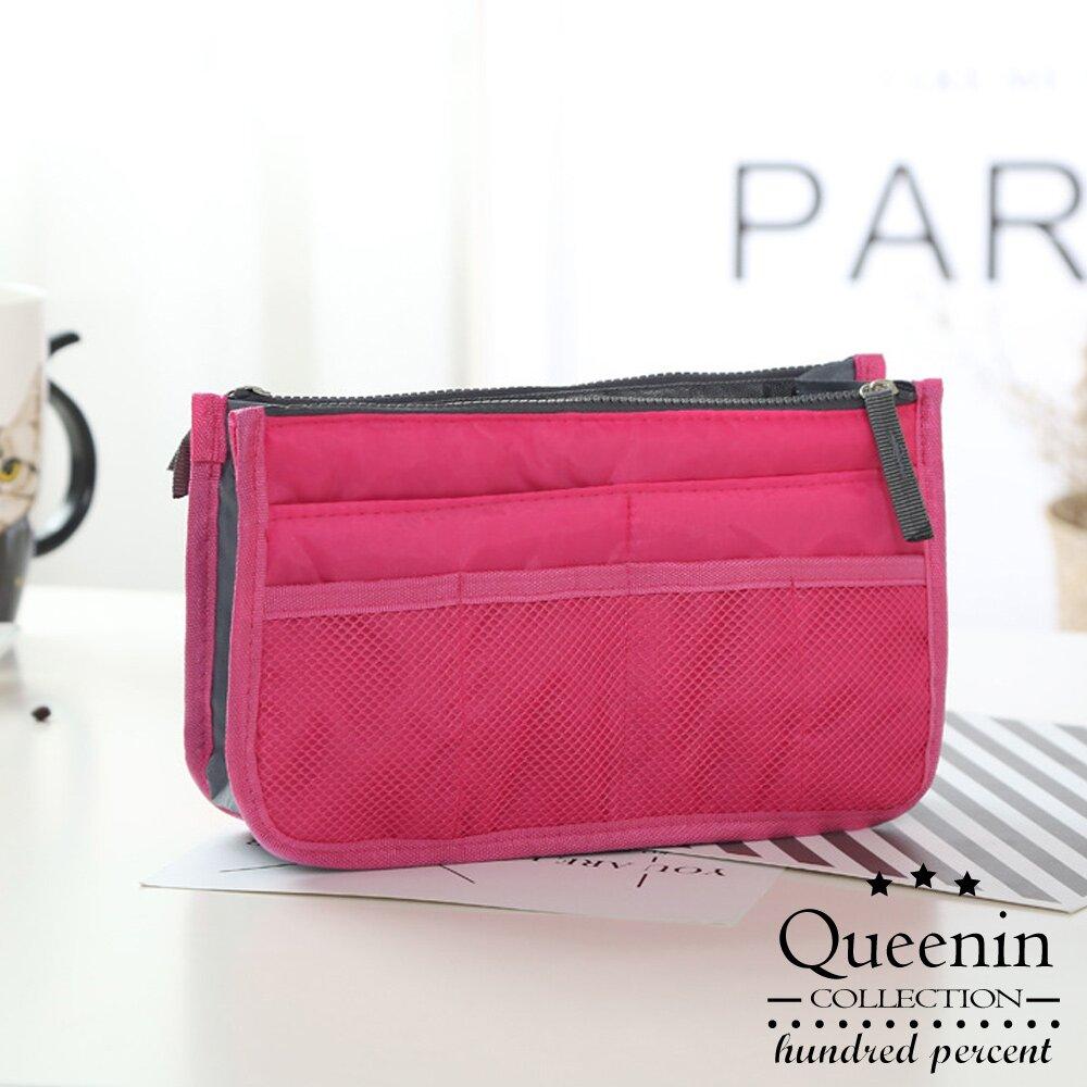 DF 生活趣館 - 時尚OL隨身收納手提包中包-共7色(隨機2入出貨)