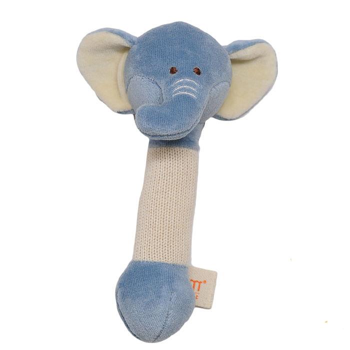 磨牙棒固齒器 有機棉安撫娃娃 秀氣小象象【WEMI010080004】