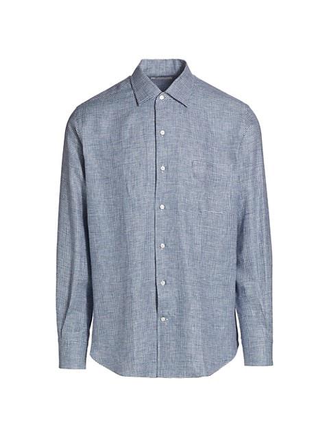 Andre Micro Check Linen Sport Shirt