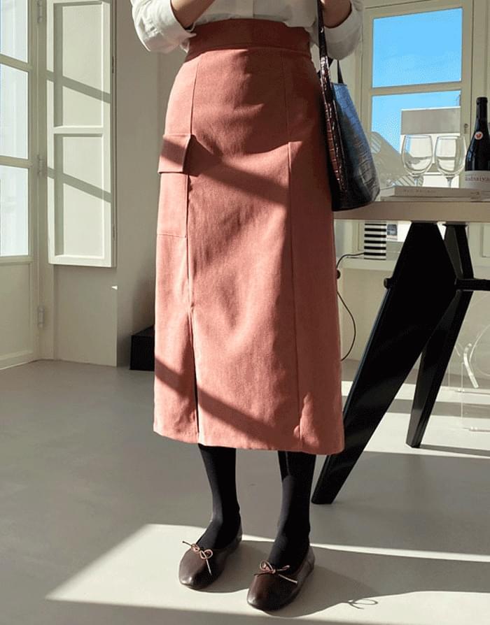 韓國空運 - Benu Pocket Banding Long Skirt 裙子