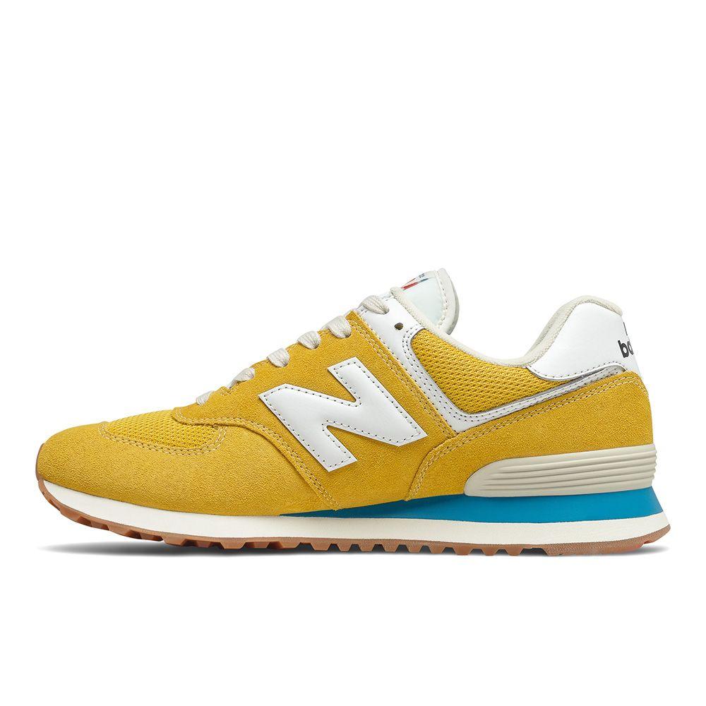 New Balance 574 D 男鞋 女鞋 休閒 復古 麂皮 緩震 黃【運動世界】ML574HB2