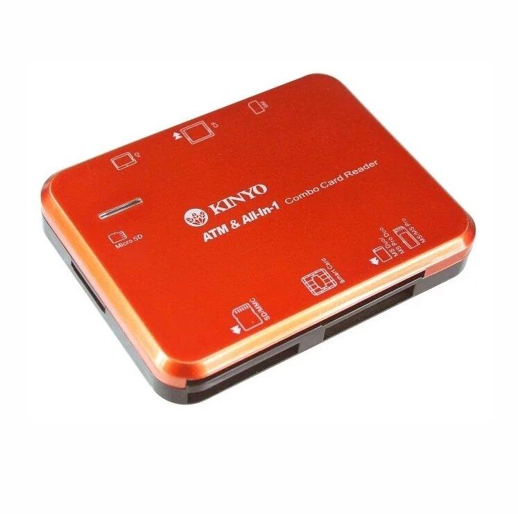 【KINYO】多合一晶片讀卡機 (KCR-355)  智慧晶片讀卡機 晶片讀卡機 多功能讀卡機 多合一讀卡機 ATM晶片卡【迪特軍】