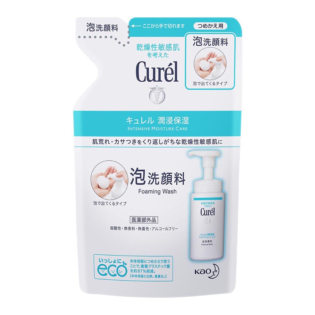 Curel珂潤潤浸保濕洗顏慕絲補充包 【康是美】