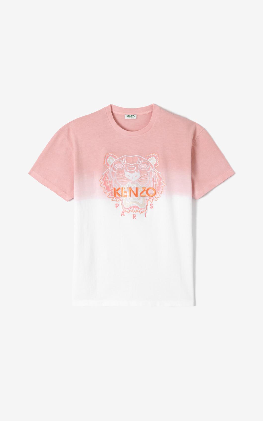 KENZO T-shirt dégradé Tigre