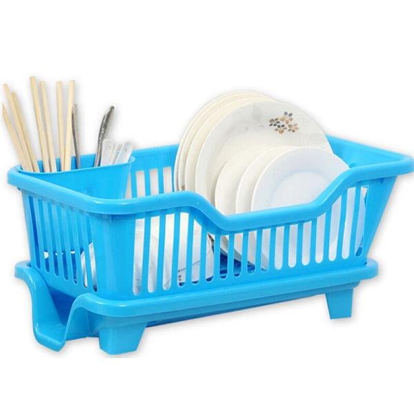 【GN450】直式妙用滴水碗盤架『筷子架可外掛』 碗盤滴水架 碗筷餐具架 EZGO商城