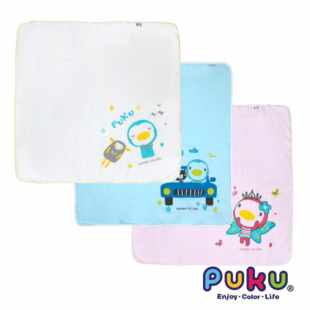 PUKU 紗布大浴巾90x90cm(三色)(P26806)