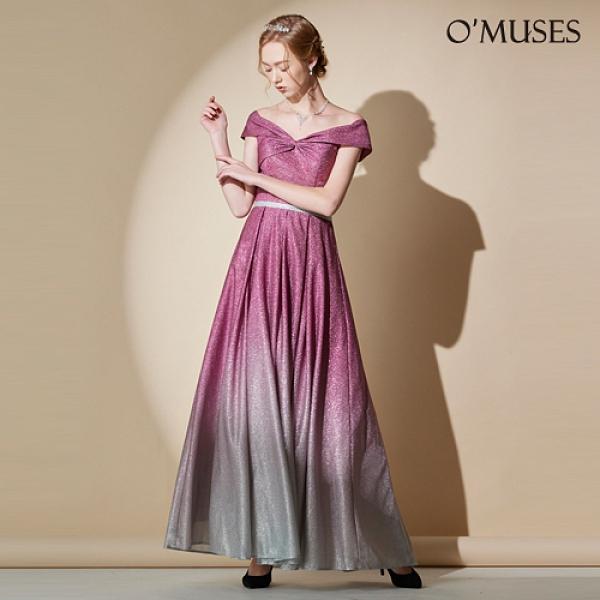 OMUSES 訂製晚宴伴娘婚紗紫色長禮服---訂製期30天