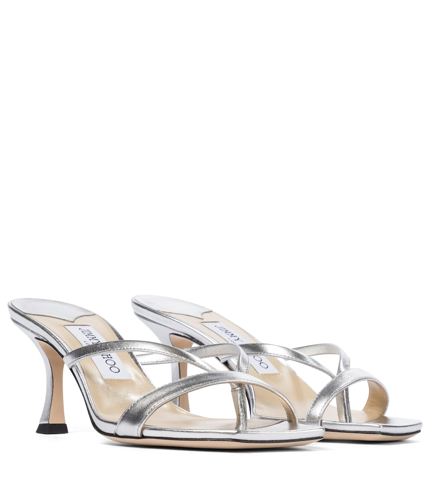 Maelie 70 metallic sandals