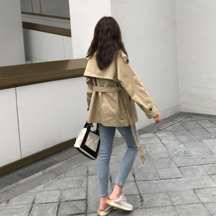 【限時搶購85折】風衣加厚短款風衣年新款中長款小個子韓版英倫風春秋季外套女大衣