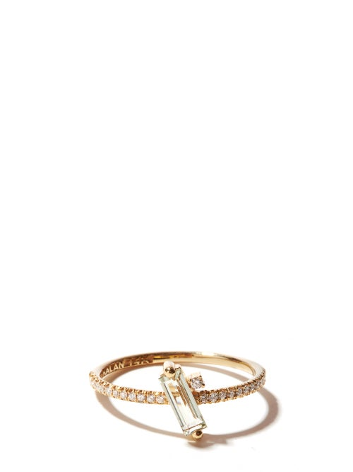 Suzanne Kalan - Diamond, Topaz & 14kt Gold Ring - Womens - Yellow Gold