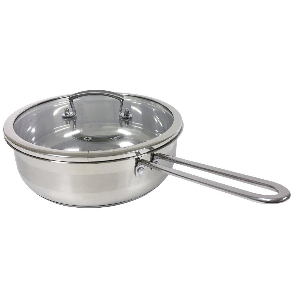 御品京廚 24CM厚斧平底鍋 / 304不鏽鋼 附蓋