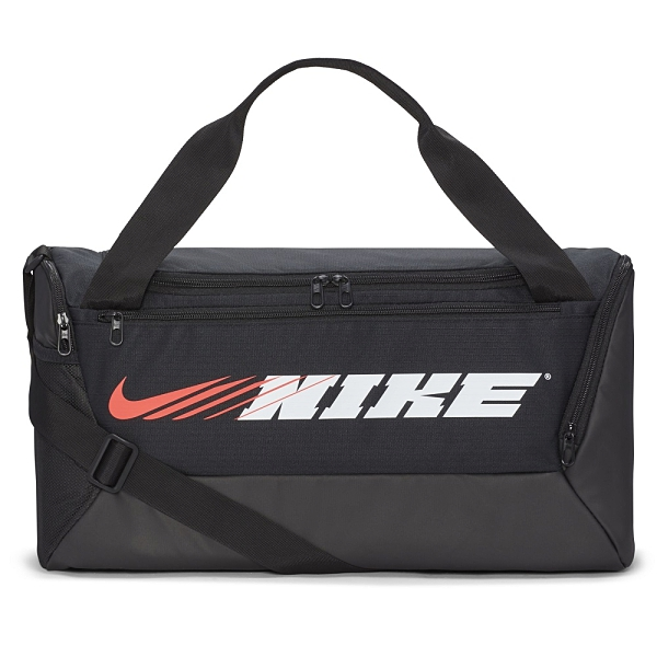 NIKE配件系列-BRSLA S DUFF-9.0 PX GFX SP2 黑色超大容量訓練行李袋-NO.CU9476010