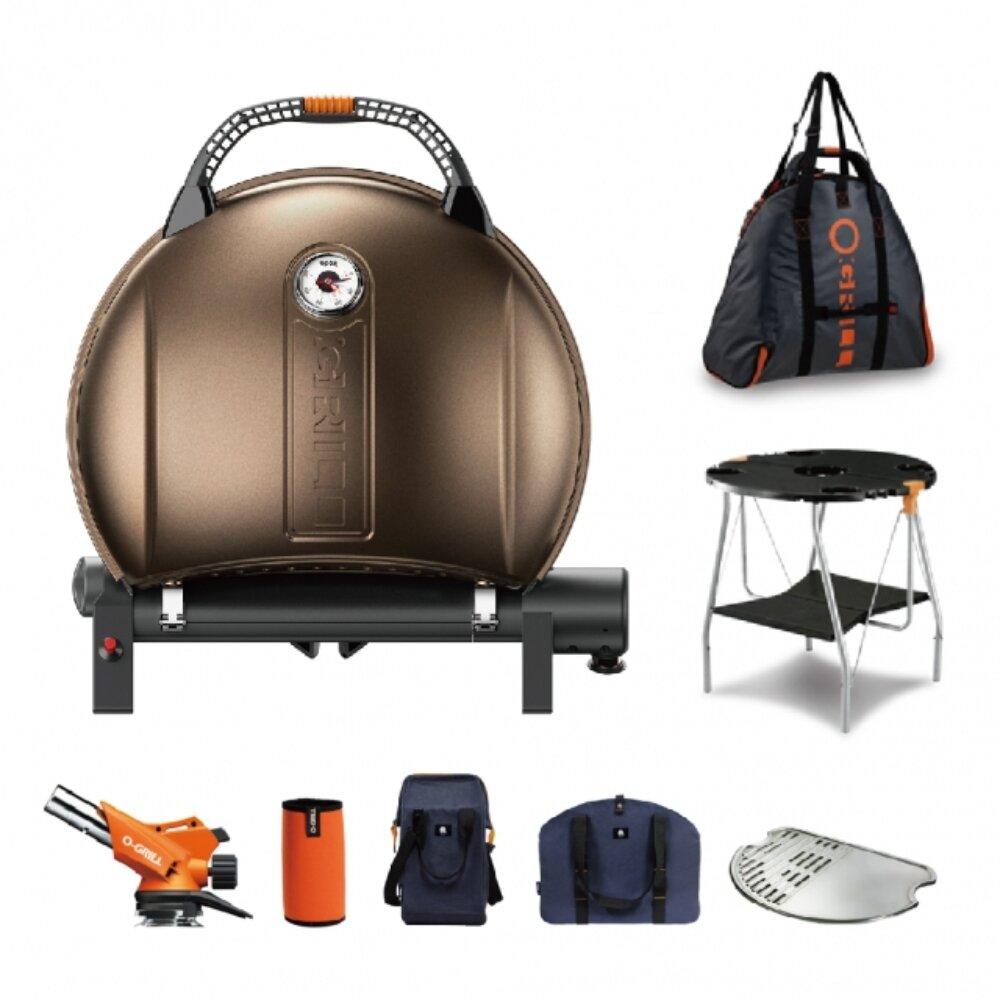 900MT 烤肉爐+圓桌+噴槍+卡式罐保護套+外袋+戶外水桶包+鋼烤盤+烤盤提袋